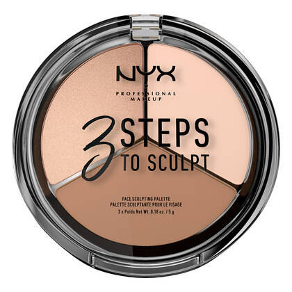 3 steps to sculpt face sculpting palette - Paleta de Contorno en Polvo